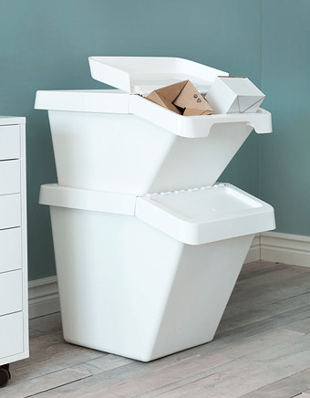 These Crisp White Stackable Bins From Ikea