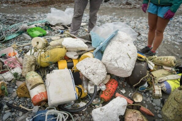 Marine waste collected
