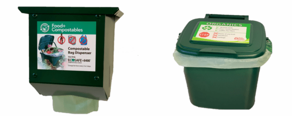 Compostable Bag Wall Dispenser