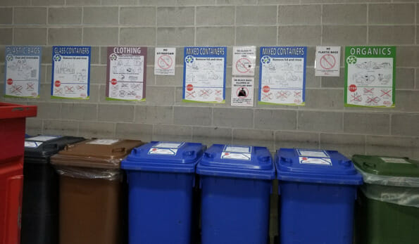 Recycling Room with Signs